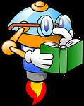 Roboter liest Buch zum Thema Bügeleisen entkalken