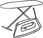 Bügelbrett und Bügeleisen von Dampfbügelstation Test