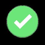 Grüner Check Haken